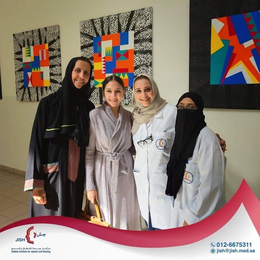 زيارة الفنانة والكاتبة السعودية السيدة فاطمة البنوي لمركز جش